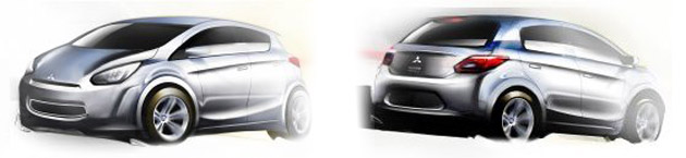 Mitsubishi city car render